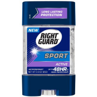 Right Guard Sport Odor Defense Antiperspirant Gel, Active 3 oz [017000069517]