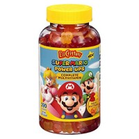 Lil Critters Super Mario Power Ups Complete Multivitamin Gummies, Natural Fruit Flavors 190 ea [027917026848]