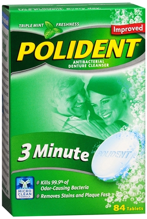 Polident 3 Minute Tablets 84 Tablets [310158053088]