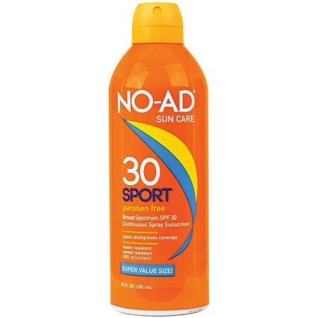 NO-AD Sport Continuous Spray Sunscreen, SPF 30 10 oz [897640002965]