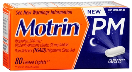 Motrin PM Coated Caplets 80 Caplets [300450563804]