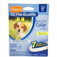 "Ultraguard Flea & Tick Dog Collar 20"", White 1 ea [032700804848]"