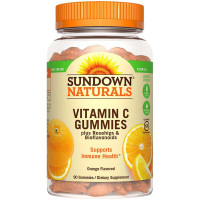 Sundown Naturals Vitamin C Gummies, Orange Flavor 90 ea [030768533007]