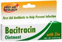 First Aid Research Bacitracin Ointment With Zinc 0.50 oz [814428008889]
