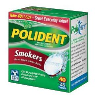Polident Smokers, Antibacterial Denture Cleanser  40 ea [310158320814]