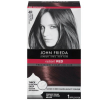 John Frieda Precision Foam Colour Radiant Red (Dark Red Brown) 4R 1 Each [717226162022]