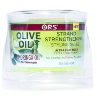 ORS Olive Oil With Moringa Oil Strand Strengthening Styling Geleé, Ultra Firm Hold 8.50 oz [632169117062]