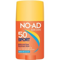 NO-AD Sport Sun Care Body and Face Stick SPF 50 1.5 oz [000774214177]