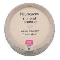 Neutrogena Mineral Sheers Loose Powder Foundation, Classic Ivory [10] 0.19 oz [086800432784]