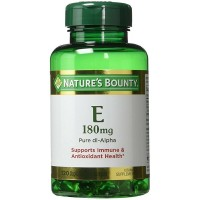 Nature's Bounty Vitamin E 180mg Pure DL-Alpha 120 Softgels  [074312017513]