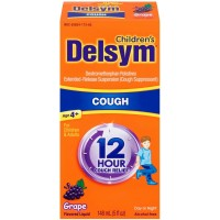 Delsym Children's Cough Suppressant Liquid, Grape Flavor, 5 oz [363824272658]