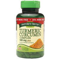 Natures Truth Turmeric Curcumin Complex 500 mg Plus Black Pepper Extract Quick Release Capsules 120 ea [840093102089]