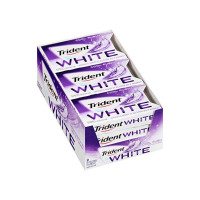 Trident White Sugar Free Gum, Cool Rush, 12 ea [012546076302]