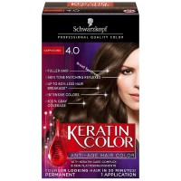 Schwarzkopf Keratin Color Anti-Age Hair Color, Cappuccino [4.0] 1 ea [017000127354]
