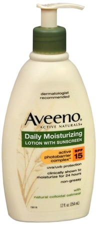 AVEENO Active Naturals Daily Moisturizing Lotion With Sunscreen SPF 15 12 oz [381370011736]
