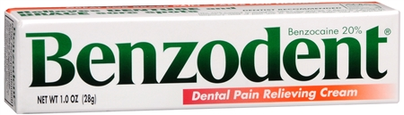 Benzodent Dental Pain Relieving Cream 1 oz [041167005347]