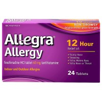 Allegra Allergy 12 Hour Non-Drowsy Tablets 24 ea [041167413142]