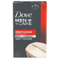 Dove Men + Care Body & Face Bar, Deep Clean 4 oz, 6 ea [011111012097]