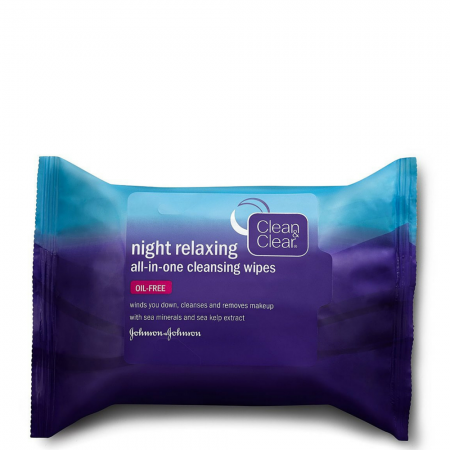 Clean & Clear Night Relaxing All-In-One Cleansing Wipes, 25 ea [381371157679]