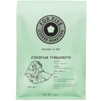 For Five Coffee Roasters Ethiopian Yirgacheffe Whole Bean 12 oz [853473008062]