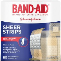BAND-AID Sheer Strips Assorted 80 Each [381370046691]
