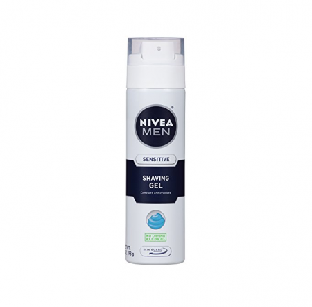 NIVEA FOR MEN Shaving Gel, Sensitive Skin 7 oz [072140817404]