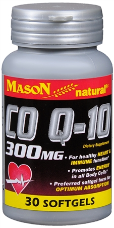 Mason Natural Co Q-10 300 mg Softgels 30 Soft Gels [311845141088]