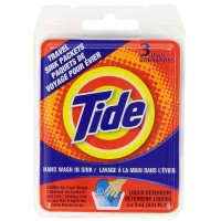 Tide Liquid Detergent Travel Sink Packets 3 ea [083725841004]