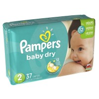Pampers Baby Dry Diapers, Size 2 37 ea [037000862093]