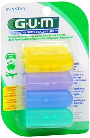 GUM Toothbrush Covers 4 Each [070942302357]