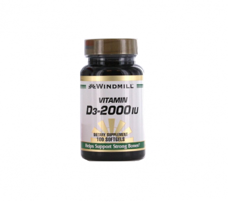 Windmill Vitamin D3-2000 IU Softgels 100 ea [035046002190]