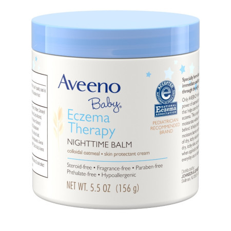 AVEENO Baby Eczema Therapy Nighttime Balm with Natural Colloidal Oatmeal for Eczema Relief, 5.5 oz [381371187607]