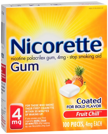 Nicorette Gum 4 mg Fruit Chill 100 Each [307667857603]