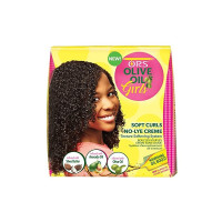 ORS Olive Oil Girls, Soft Curls No-Lye Crème Texture Softening System Kit, 1 ea [632169191697]