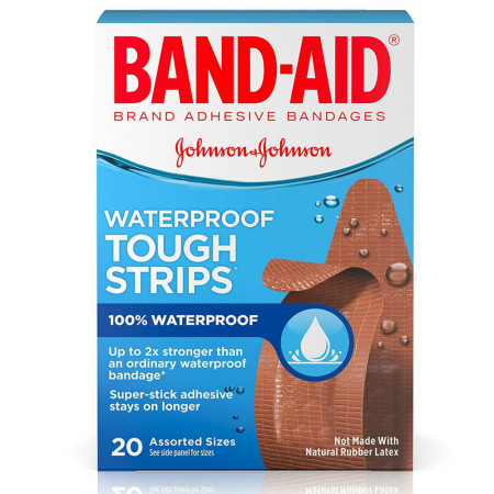 BAND-AID Bandages Tough-Strips Assorted 20 Each [381370048343]