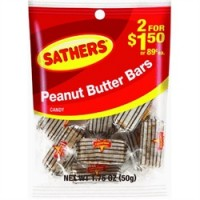 Sathers Peanut Butter Bar 12 pack (1.75oz per pack)  [075602101073]