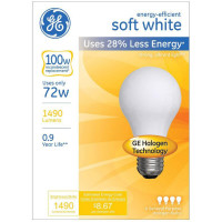 GE Soft White 72-Watt Lumen Light Bulb with Medium Base  4 ea [043168662499]