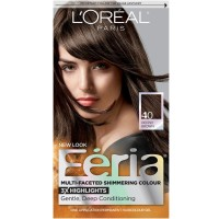 L'Oreal Feria Multi-Faceted Shimmering Colour, 40 Deeply Brown, 1 ea [071249230046]