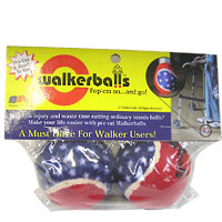 Patriotic Walker Balls Red, White & Blue 1 pair [645723400029]