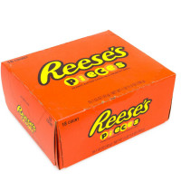 Reese's Pieces, Peanut Butter Candy In A Crunchy Shell 1.53 oz, 18 ea [034000248513]