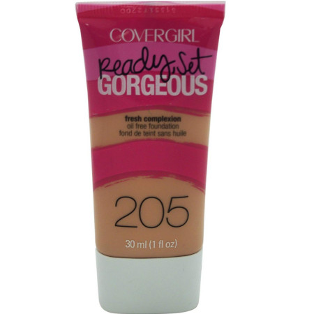 CoverGirl Ready Set Gorgeous Foundation, [205] Natural Beige  1 oz [046200000570]