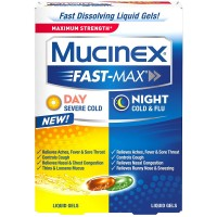 Mucinex Fast-Max Liquid Gels Day Severe Cold/Night Cold & Flu 24 ea [363824590240]