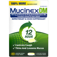 Mucinex DM 12-Hour Expectorant and Cough Suppressant Tablets, 40 ct [363824056401]