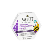 ZarBee's Naturals 96% Honey Cough Soother + Immune Support Lozenges, Mixed Berry, 14 ea [857647007257]