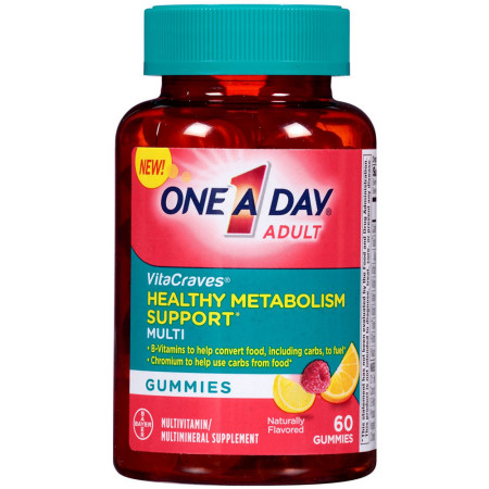 One-A-Day Adult VitaCraves Healthy Metabolism Support Multivitamin Gummies  60 ea [016500563259]