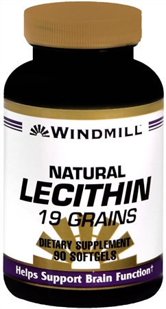 Windmill Lecithin 19 Grain Softgels Natural 90 Soft Gels [035046003128]