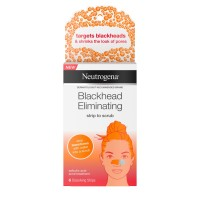Neutrogena Blackhead Eliminating Pore Strip to Facial Scrub with Salicylic Acid Acne Treatment Oil-Free & Non-Comedogenic 6  ea [070501100547]