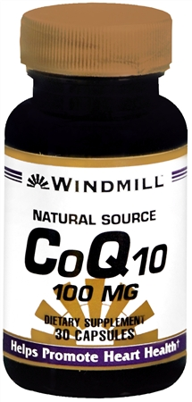 Windmill CoQ10 100 mg Capsules Natural Source 30 Capsules [035046004323]