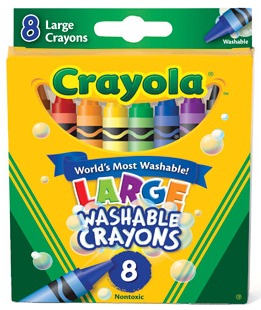 Crayola Washable Crayons Large 8 Each [071662032807]