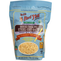 Bob's Red Mill Organic Quick Cooking Steel Cut Oats 22 oz [039978049605]